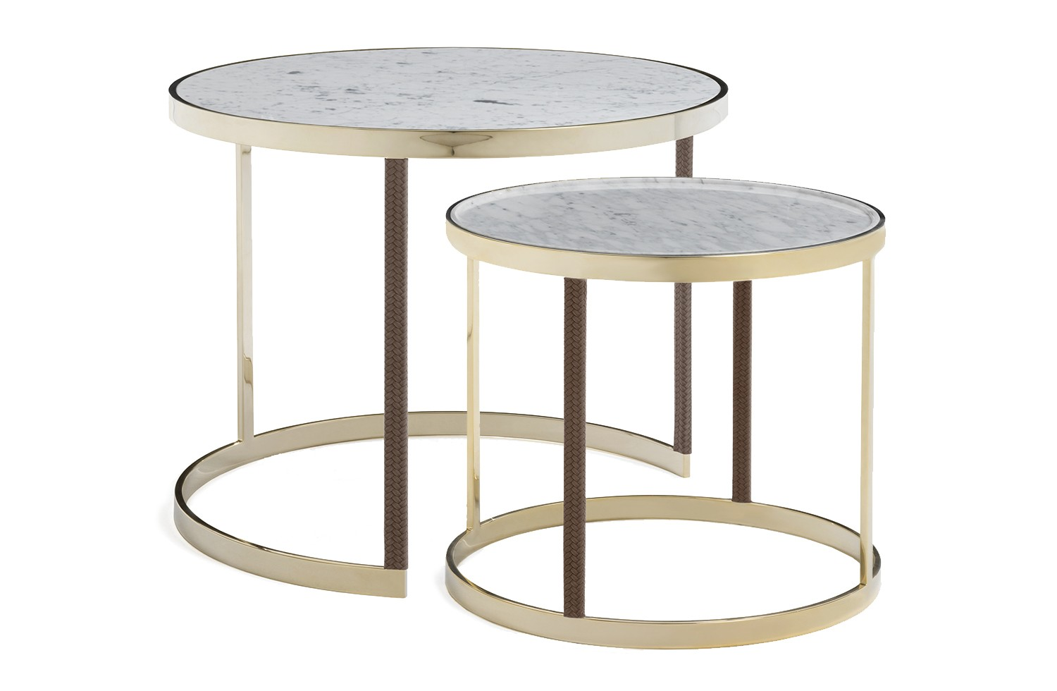 table basse gigogne ronde en marbre amerigo milano. Black Bedroom Furniture Sets. Home Design Ideas