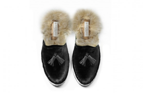 MEN PRINCE - BLACK WITH ECO-FUR